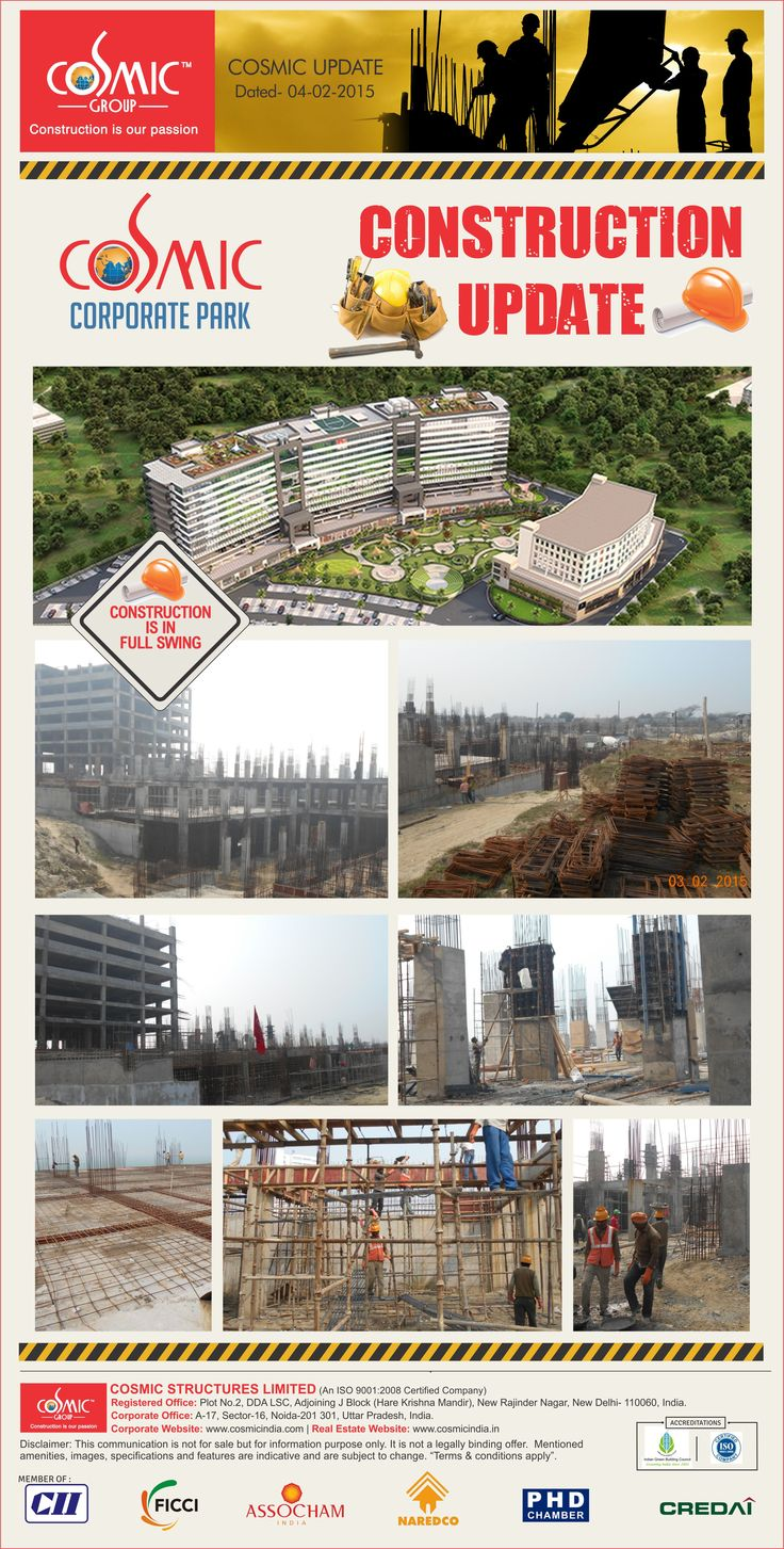 Construction on full swing at Cosmic Corporate Park.  fo more updates : https://www.flickr.com/photos/73502464@N04/sets/72157649556414655/