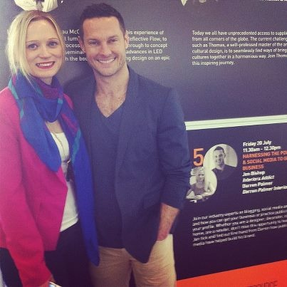 Jen Bishop & I @DDtradefair Melbourne July 2012