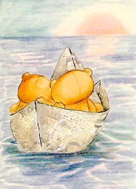 Forever Friends - teddies in a paper boat