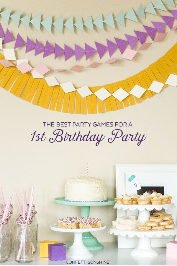 Best Party Games for a 1st Birthday Party