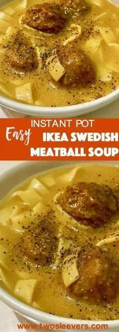 Pressure Cooker IKEA Pressure Cooker IKEA Swedish Meatballs...  Pressure Cooker IKEA Pressure Cooker IKEA Swedish Meatballs Soup For days when you just need a quick meal this Ikea Swedish Meatball Soup take ready-frozen Swedish meatballs and the IKEA cream sauce packet to make a no-fuss comfort meal. Two Sleevers Recipe : http://ift.tt/1hGiZgA And @ItsNutella  http://ift.tt/2v8iUYW