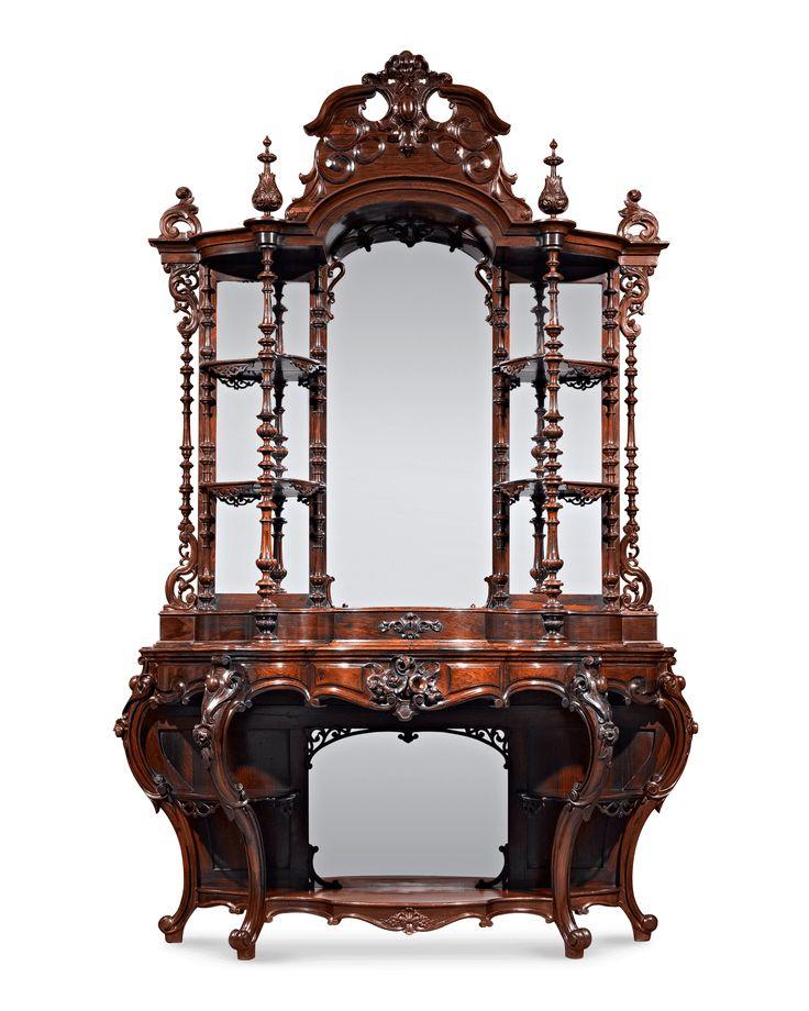 c1860 Rococo etagere, lbl-T Brooks, 127 Fulton St, Brooklyn, NY - 24 Best Furniture - Thomas Brooks Images On Pinterest Brooklyn