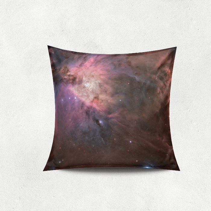 Pillow with a galaxy photoprint, looks amazing.