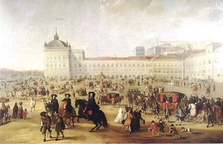 Lisbonne le tremblement de terre de 1755. Terreiro do Paço | Dirk Stoop | 1662 | Óleo s/ tela. Musée de Lisbonne.