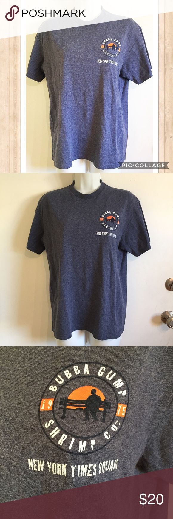 """Bubba Gump Shrimp Co NYC Times Square Tee Bubba Gump Shrimp Co New York City Times Square souvenir tee. Size medium. Back says """"Mama always said, 'Life is like a box of chocolates, you never know what you're gonna get."""" - Forrest Gump.  #bubbagump #shrimp #forrestgump #souvinier #tee #nyc #newyork #timessquare #medium #tee #lifeislikeaboxofchocolates #quote #movie #punkydoodle  No modeling Smoke free home I do discount bundles Tops Tees - Short Sleeve"""