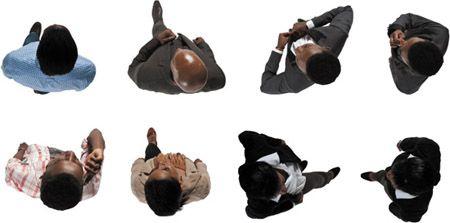 DOSCH DESIGN - DOSCH 2D Viz-Images: Bird Eye People - African American