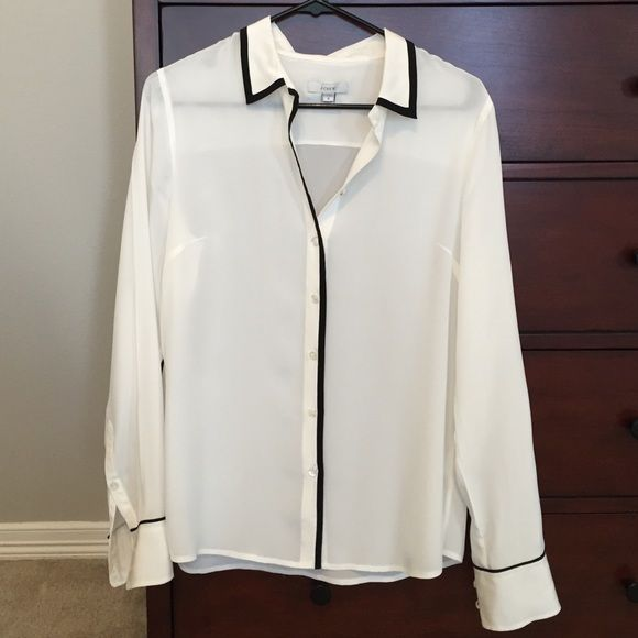 J Crew White Silk Blouse 68