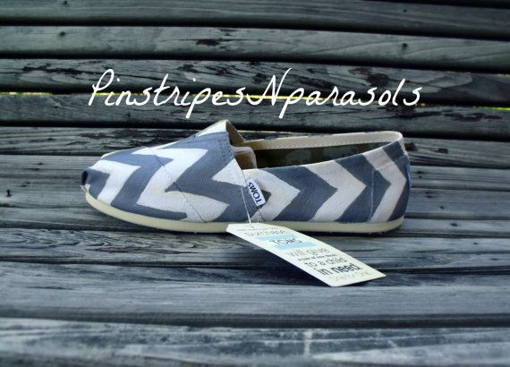 Chevron Toms by pinstripesNparasols on Etsy, $90.00
