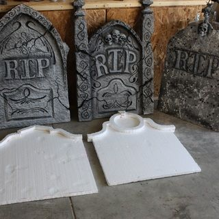 home made grave stones - Victorian Halloween Decorations