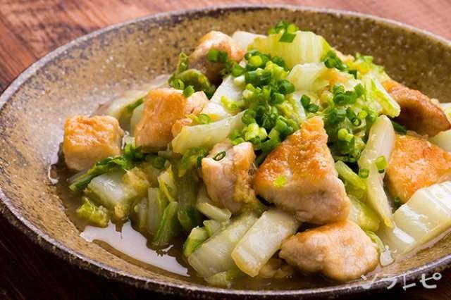 とろ りあつあつ鶏肉と白菜の塩炒めのレシピ 健康レシピと献立のソラレピ レシピ 2021 健康 レシピ 料理 レシピ レシピ