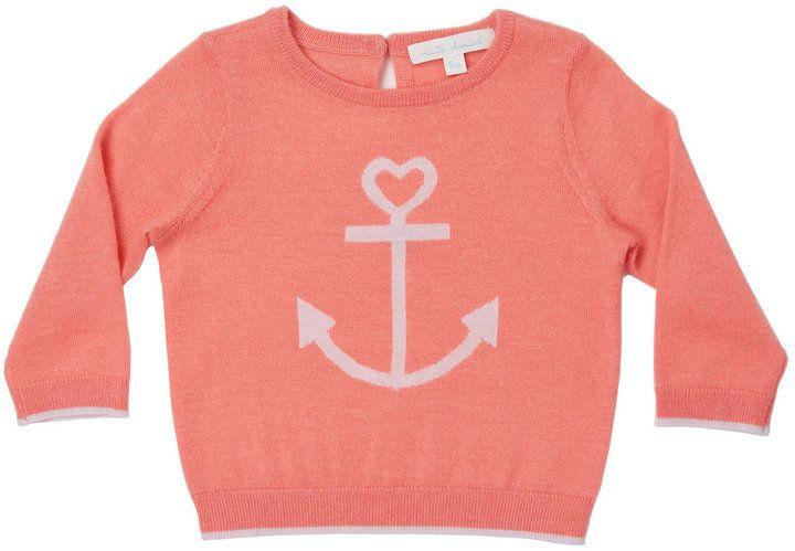 Marie Chantal Baby Girl Mini Summer Cashmere Anchor Sweater