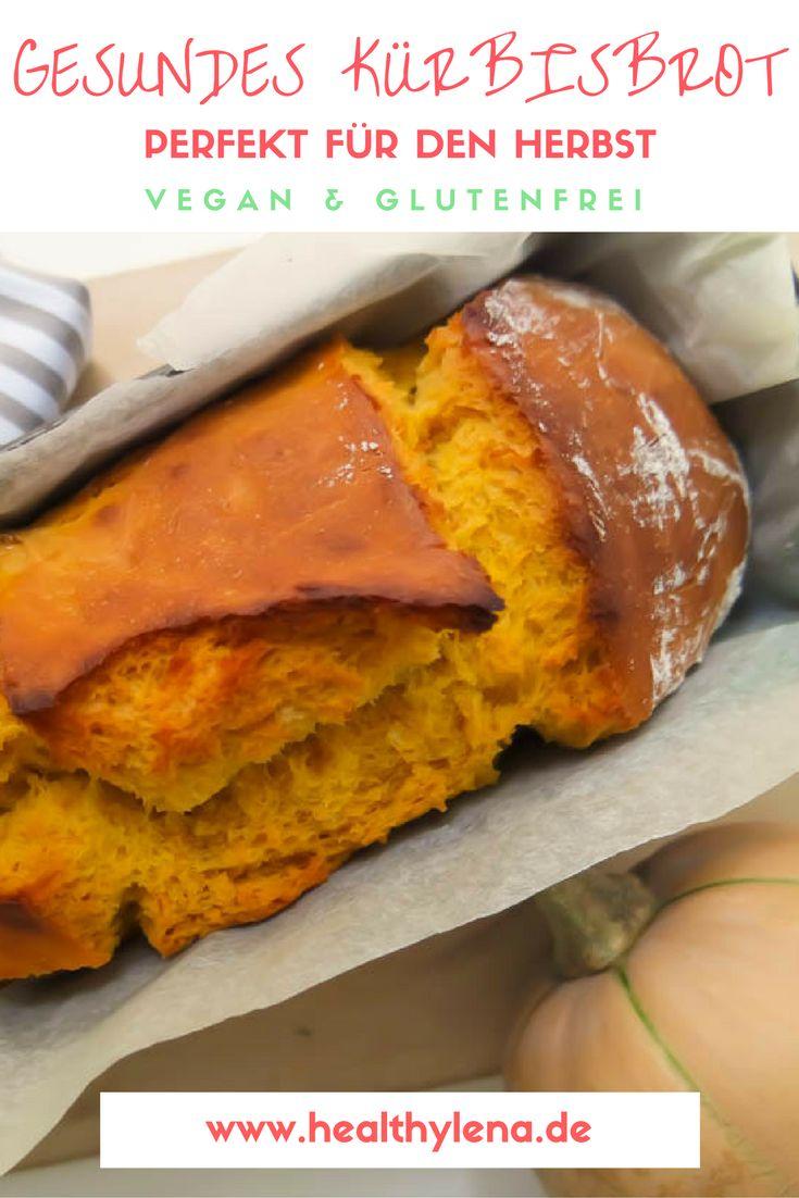 Veganes Kürbisbrot gesund lecker einfach Herbst kürbisrezept bestes