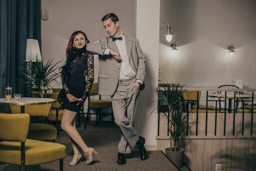 Photoshoot in Dobre&Dobre, suits by Lombardi Fashion House. Swing, vintage, fashion, 1930, photo by Martin Haburaj.