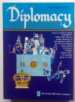 an analysis of diplomacy a strategy board game Analyzed messages sent between players of strategy game diplomacy to tease  out early signs of future betrayal  what would you think if you bought 14 such  kits from your local game store, received not one good card,.