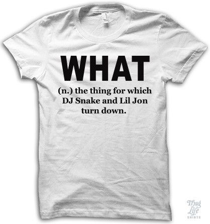 what, the thing for which dj snake and lil jon turn down.