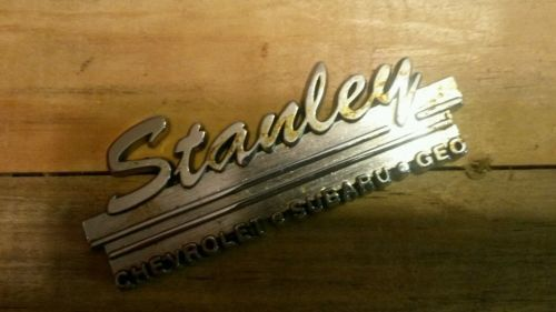 #Stanley--chevrolet--subaru--geo--metal  #dealer emblem car  #vintage ,  View more on the LINK: 	http://www.zeppy.io/product/gb/2/301915624251/
