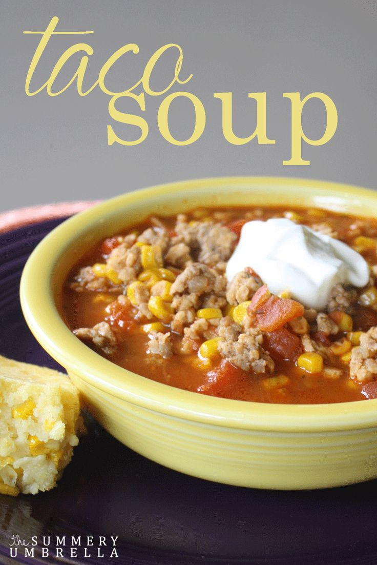 This yummy Taco Soup Recipe will have your family begging for more!