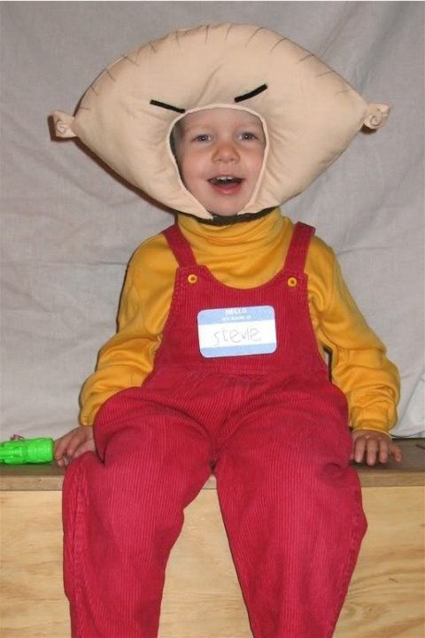 Up for a sewing challenge? If you can DIY this Stewie from Family Guy costume, you or your kid can be the ~coolest~ on Halloween.