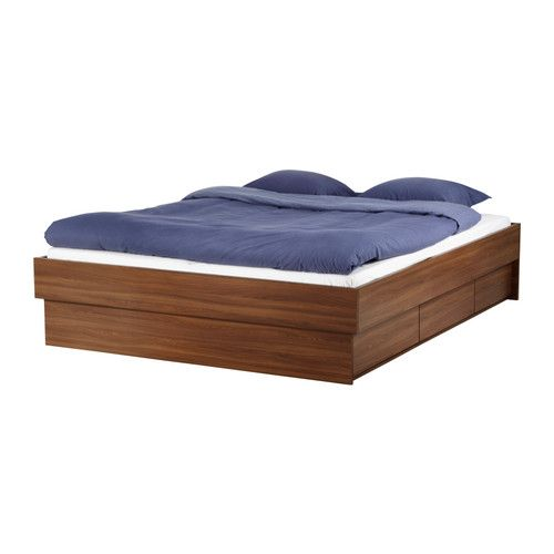 Oppdal bed frame - to go with the cool head board from the new Ikea catalog; includes under-the-bed storage drawers because who doesn't need additional storage AND a good excuse to not have to mop under the bed?