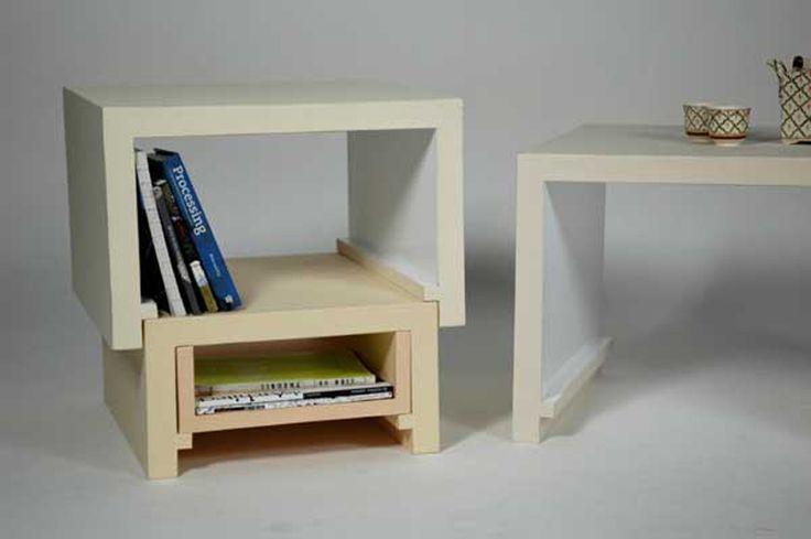 Creative Idea Stacking Nesting Furniture by Florian Krautli