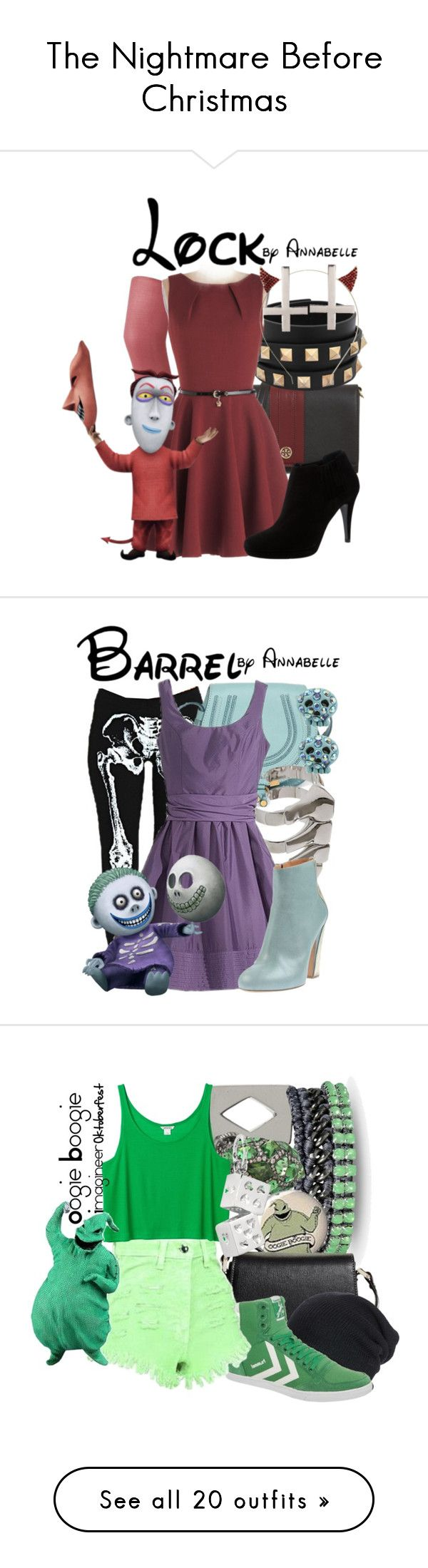 """The Nightmare Before Christmas"" by laceyleanne18 ❤ liked on Polyvore featuring disney, quotes, words, backgrounds, pictures, filler, phrase, saying, text and Tory Burch"