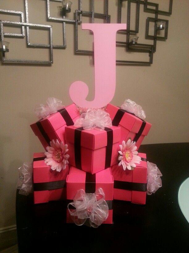 Centerpieces for close friend's baby shower #babyshower #centerpiece #pink #babygirl