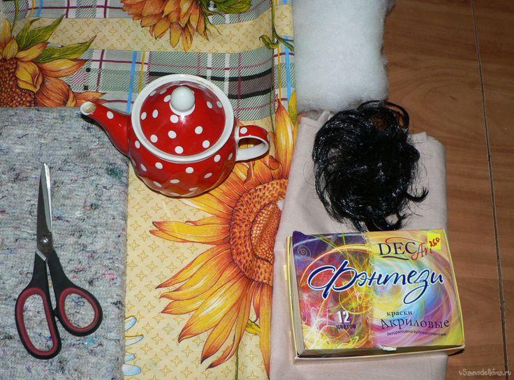 «Баба на чайник» своими руками. Оформляем кухню в русском стиле