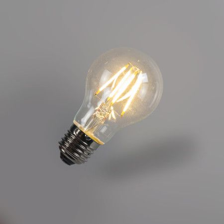 Bombilla filamento LED A60 4W 2700K transparente