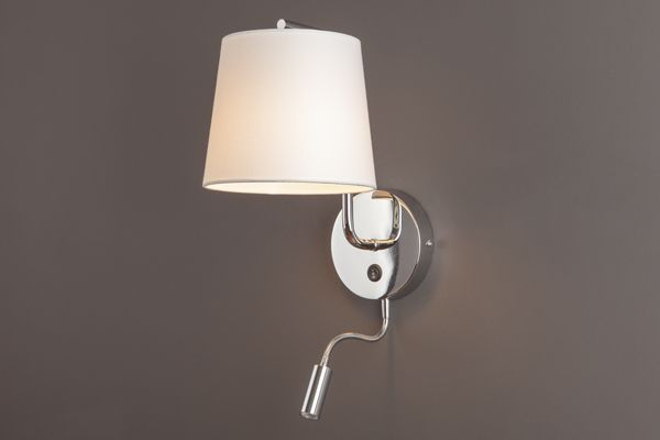 Lampa CHICAGO II CR kinkiet+led MAXlight lampy - oświetlenie domu