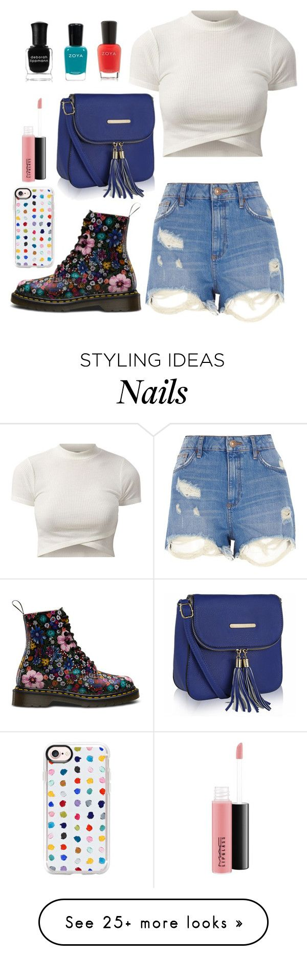 """Untitled #1246"" by o-p-backe on Polyvore featuring River Island, Casetify, MKF Collection, MAC Cosmetics, Zoya and Deborah Lippmann"