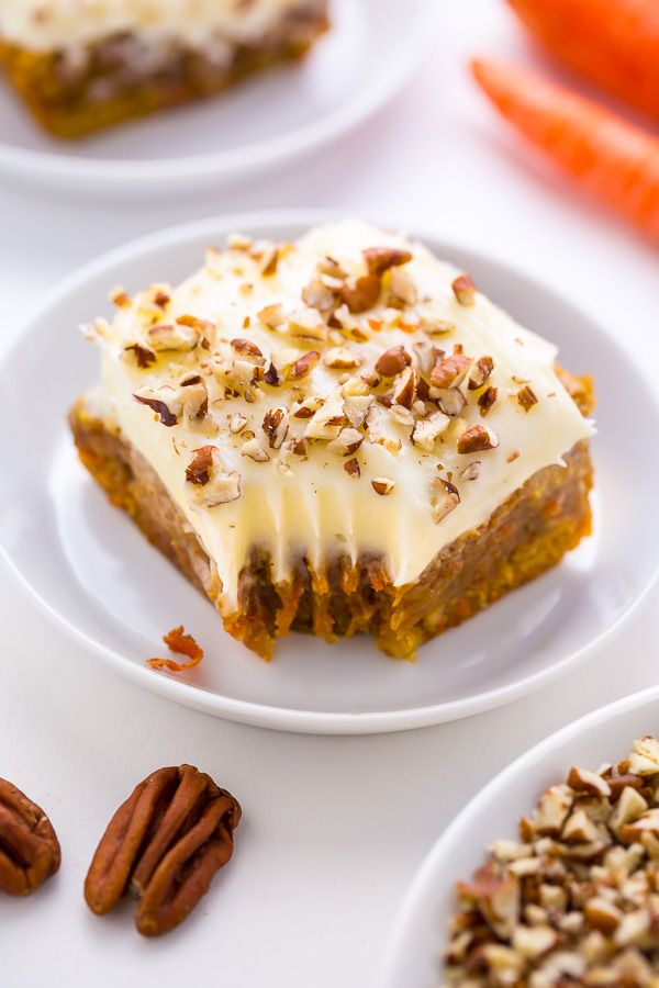 Carrot Cake Blondies - all the flavor of a classic carrot cake baked into easy-to-bake bars!