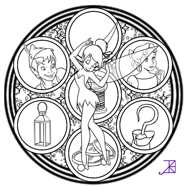 Tinkerbell Stained Glass -line art- by Akili-Amethyst.deviantart.com on @deviantART