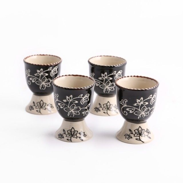 temp-tations® by Tara: temp-tations® Set of 4 Floral Lace Egg Cups
