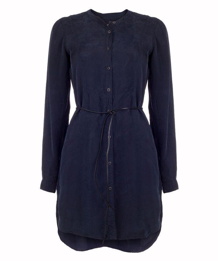 Jurk Shirt Dress Navy Blue | Vanilia | Dresses Only | http://www.dressesonly.nl/jurk-shirt-dress-navy-blue-vanilia.html