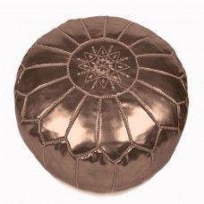 Faux Leather Pouf - Copper - $179.00 NZD - New Zealand