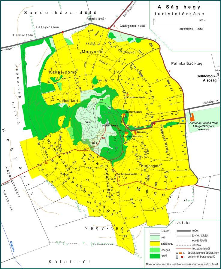 A Ság hegy honlapja - Túraútvonalak, térkép
