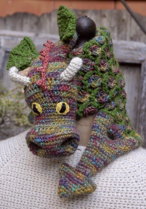 From Crochet Ever After My Dragon Scarf Crochet Beanies Hats
