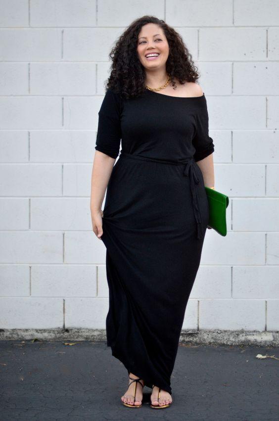 ... Maxi Dress Chic. look per donne curvy d622181d83a