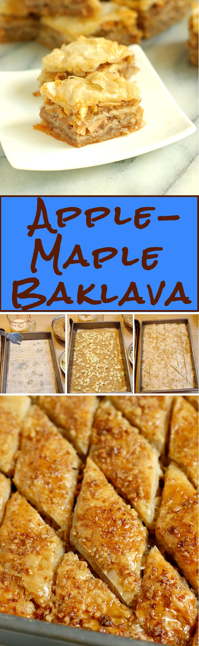 If traditional Baklava and all-American Apple Pie had a baby, it would be Apple Maple Baklava.