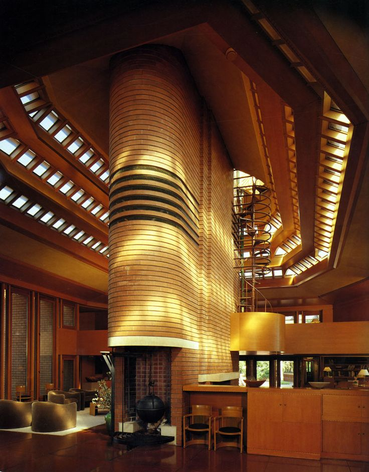 Interior : Frank Lloyd Wright's Fallingwater Interior and Home .