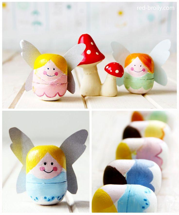 Забавные коробочки из яиц киндер-сюрприза. Зубные феечки, хранящие выпавшие зубки. #дети #поделки #творчество
