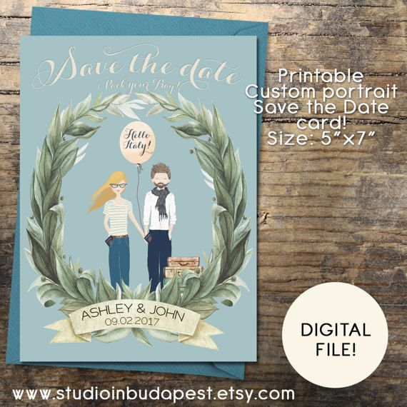 Save The Date Card portrait Save the date card by StudioInBudapest