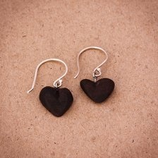 Heart design earrings for special occasions.