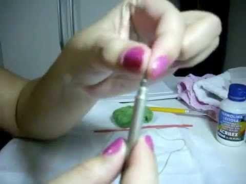 DIY: Ponto Russo parte 1 / como colocar linha na agulha e materiais utilizados por Jackelin - YouTube
