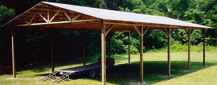 25 best ideas about wood carport kits on pinterest for Wood pole barn plans free