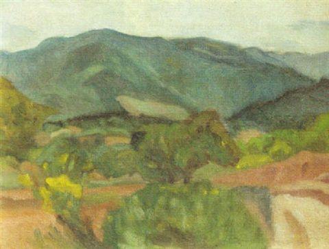 Ivan Agueli - Sydländskt landskap