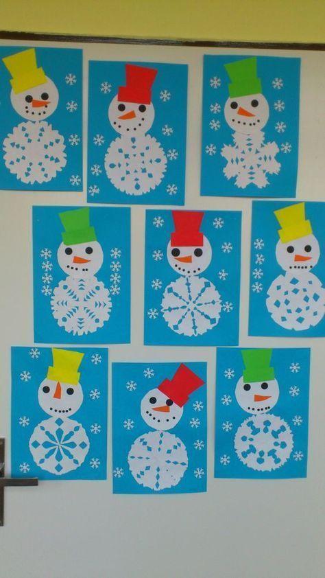 Snowflake craft idea for kids | Crafts and Worksheets for Preschool,Toddler and Kindergarten #kidscraft #craftsforkids #preschool