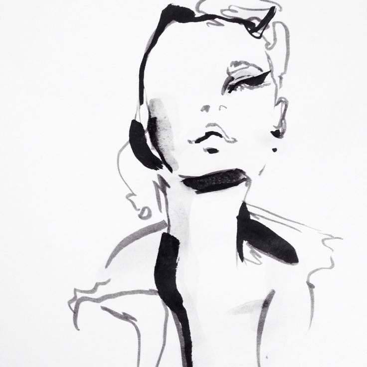 Fashion illustration - stylish fashion sketch // Anna Wand