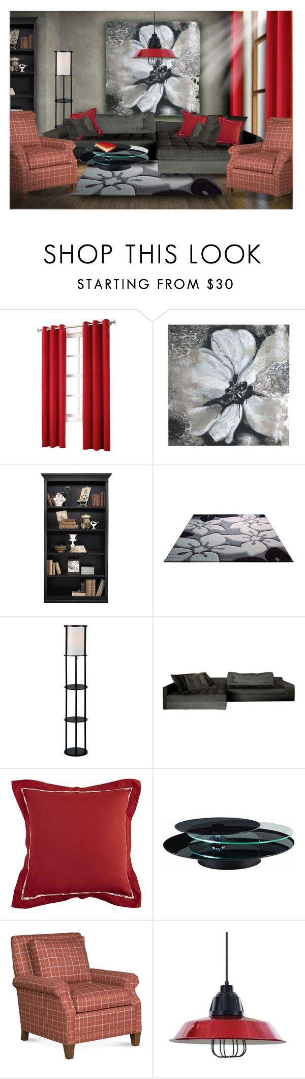 """Living Room Design"" by erina-i ❤ liked on Polyvore featuring interior, interiors, interior design, home, home decor, interior decorating, Sun Zero, Ballard Designs, Home Decorators Collection and Pier 1 Imports"