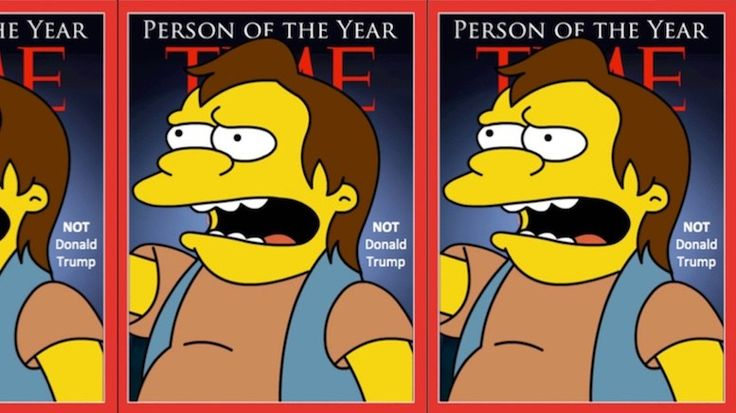 """The question of whether Donald Trump will be Person of the Year once again has been put to rest after Time Magazine revealed this year's choice – Nelson from the TV show """"The Simpsons"""" Despite..."""